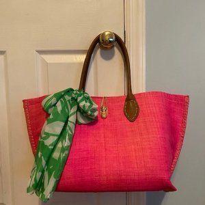 Hot Pink Lilly Pulitzer Beach Bag